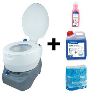 Chemická toaleta Portable 20 L Combo + desinfekce a toaletní papír CAMPINGAZ 2000030582