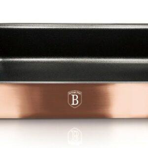 Pečící plech hluboký s titanovým povrchem Rosegold Metallic Line 35x27cm BERLINGERHAUS BH-6469