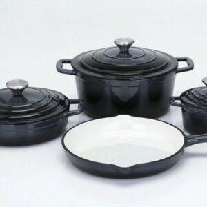 Sada nádobí litinová Xanten 7 ks černá CS Solingen CS-067465