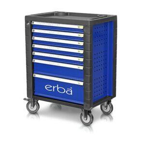 Dílenský vozík 7 uzamykatelných zásuvek ERBA ER-14230