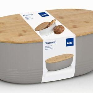 Chlebník NAMUR plast / dřevo šedá KELA KL-12062