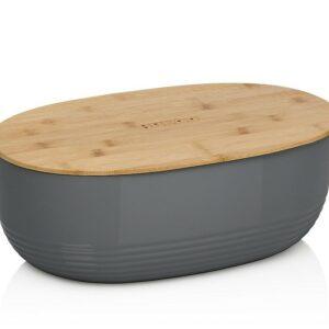 Chlebník NAMUR plast / dřevo antracit