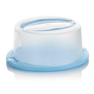 Box na dort a moučník přenosný s víkem DELI modrá