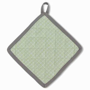 Chňapka CARLA šedá/mentolová 20x20cm KELA KL-12271