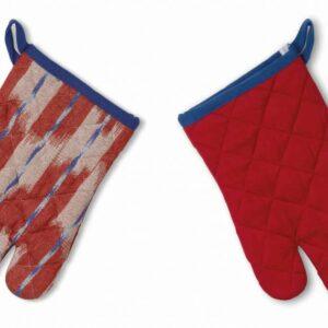 Chňapka rukavice ETHNO 100% bavlna červená KELA KL-12443