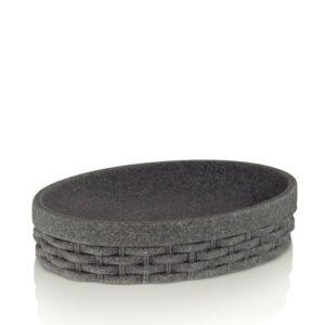 Miska na mýdlo ALEXIA umělý kámen šedá KELA KL-24139
