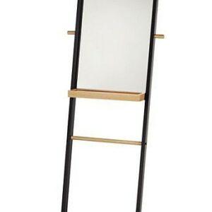 Zrcadlo s držákem na ručníky a poličkou OAK kov/dřevo KELA KL-24264