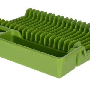 Odkapávač na nádobí rozkládací 35x30cm zelená EXCELLENT KO-022000140ze