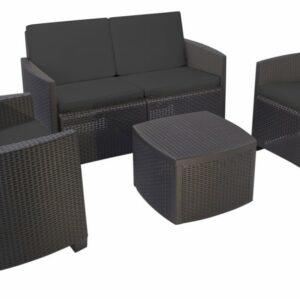 Zahradní nábytek polyratan ETNA sada 4 ks + polstry