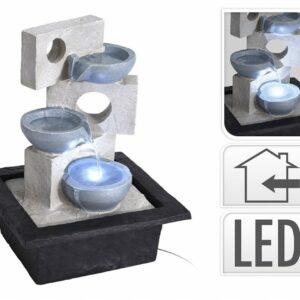 Fontána pokojová s LED osvětlením 3 nádoby
