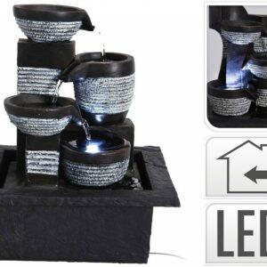 Fontána pokojová s osvětlením 4 nádoby
