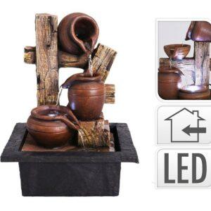 Fontána pokojová s LED osvětlením 3 Amfory