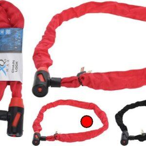 Zámek na kolo řetězový 120 cm červená