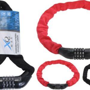 Zámek na kolo řetězový s číselným kódem 90 cm černá