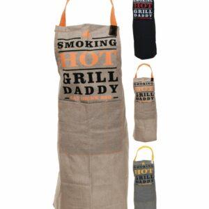 Zástěra kuchyňská BBQ šedá/oranžová