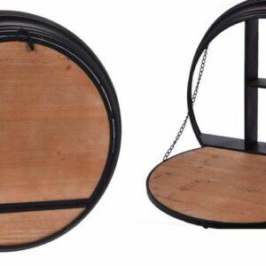 Domácí bar nástěnný kov / dřevo