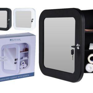 Lékárnička se zrcadlem černá EXCELLENT KO-C80602000ce