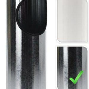 Venkovní popelník a koš 2v1 stříbrná PROGARDEN KO-C80820500st
