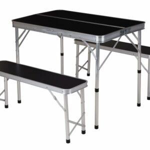 Kempingový set skládací stůl + lavice