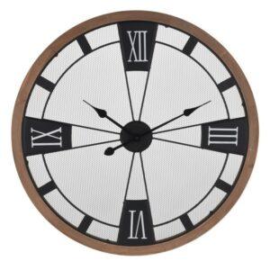 Hodiny nástěnné 70 cm Kov a Dřevo