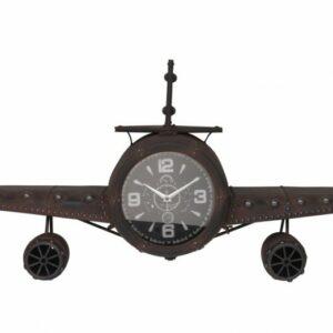 Hodiny nástěnné dekorativní 63 cm Letadlo