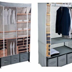 Textilní šatní skříň HOMESTYLING 160 x 88 x 50 cm