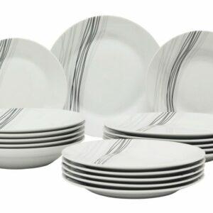 Jídelní sada talířů RIGA porcelán 18 ks EXCELLENT KO-Q77000030
