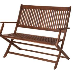 Zahradní lavice skládací PORTO akátové dřevo 118 x 63 x 89 cm