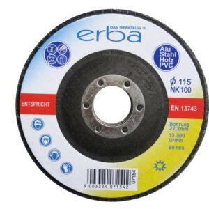 Brusný kotouč lamelový na kov alu dřevo PVC 115 mm ERBA ER-07154