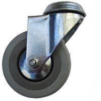 Kolo gumové šedé otočné montážní otvor 75 mm / 70 kg ERBA ER-33302
